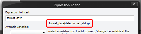 Expression Editor - Function Parameters Hint