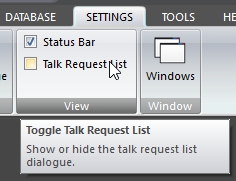 Talk Request List button